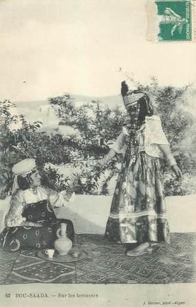 """CPA ALGERIE """"Bou Saada, sur les terrasses"""""""