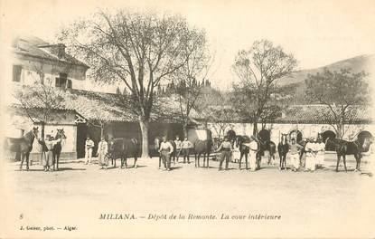 """CPA ALGERIE """"Miliana, dépôt de la Remonte"""""""