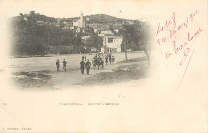 """CPA ALGERIE """"Philippeville, pris du cimetière"""""""