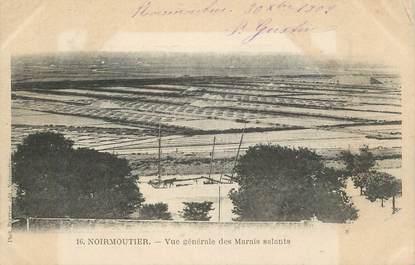 """CPA FRANCE 85 """"Noirmoutier, Vue générale des marais salants"""""""