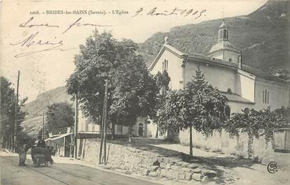 """CPA FRANCE 73 """"Brides les Bains, L'Eglise"""""""