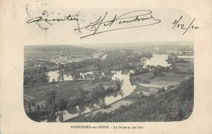 """CPA FRANCE 78 """" Bonnières sur Seine, La Seine et ses iles"""""""