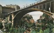 """Algerie CPSM ALGERIE """"Constantine, le pont Sidi M'Cid vu du pont d'El Kantara"""""""