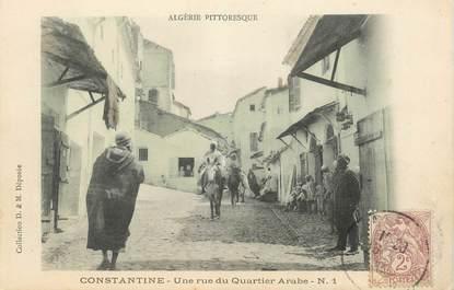 "CPA ALGERIE ""Constantine, une rue du quartier arabe"""