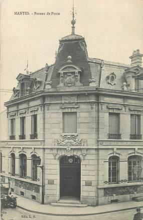 """CPA FRANCE 78 """" Mantes, Le bureau de Poste""""."""