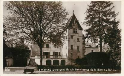 """CPSM FRANCE 24 """" Brantome, Manoir renaissance de la Hierce"""""""