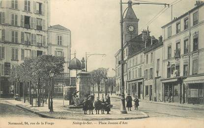"""CPA FRANCE 93 """" Noisy le Sec, La Place Jeanne d'Arc'"""