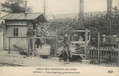 """CPA FRANCE 93 """"Epinay, Poste d'aiguillage"""""""