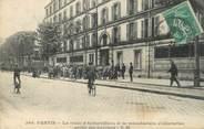 """93 Seine Saint Deni CPA FRANCE 93 """" Pantin, Route d'Aubervilliers et la Manufacture d'Allumettes, sortie des ouvriers"""""""