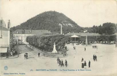 """CPA FRANCE 88 """" Bruyères sur Vosges La Place Stanislas et le Mont Avison"""""""