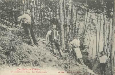 """CPA FRANCE 88 """" L'industrie du bois, Les Schliteurs"""""""
