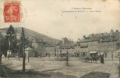 """CPA FRANCE 12 """" St Geniez d'Olt, Place neuve"""""""