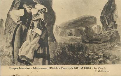 """CPA FRANCE 44 """" La Baule, Fresques décoratives, salle à manger de l'Hôtel de la Plage et du Golf"""""""