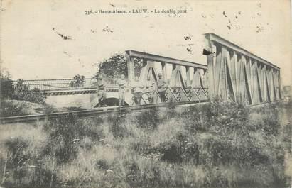 "CPA FRANCE 68 "" Lauw, Le double pont"""