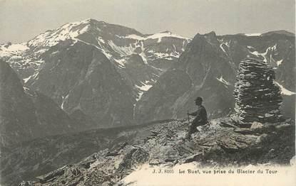 """CPA FRANCE 74 """"Le Buet Vue prise du glacier du tour"""""""