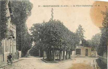 "CPA FRANCE 91 "" Montgeron, La Place Chalandray"""