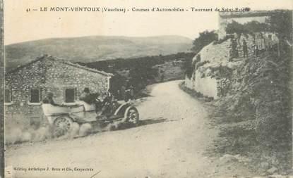 """CPA FRANCE 84 """" Le Mont Ventoux, Cours d'automobiles, tournant de St Estève"""""""
