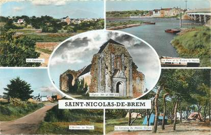 """CPSM FRANCE 85 """" St Nicolas de Brem, Vues"""""""