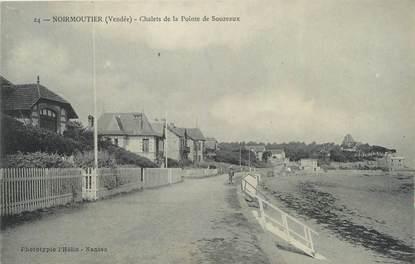 """CPA FRANCE 85 """"Noirmoutiers, Chalets de la Pointe de Souzeaux"""""""
