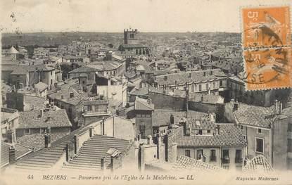 """CPA FRANCE 34 """" Béziers, Panorama pris de l'église de la Madeleine"""""""