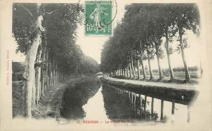 """CPA FRANCE 34 """" Béziers, Le Canal du Midi"""""""