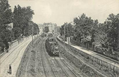"""CPA FRANCE 92 """"Asnières, Le chemin de fer"""" / TRAIN"""
