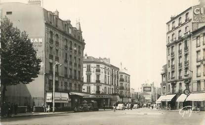 """CPSM FRANCE 92 """"Asnières sur Seine, La Place des Bourguignons et l'Avenue d'Argenteuil''"""