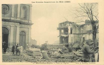 """CPA FRANCE 82 """"Montauban - Sapiac, Place de l'église, les grandes inondations du midi en 1930"""""""