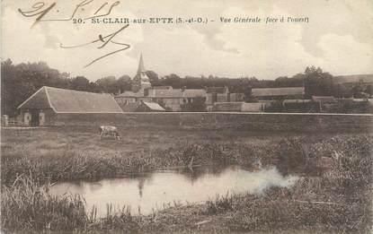 """CPA FRANCE 95 """" St Clair sur Epte, Vue générale"""""""