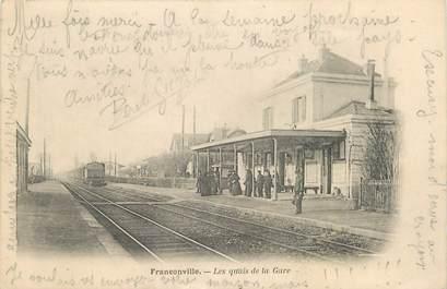 """CPA FRANCE 95 """"Franconville, Les quais de la gare"""""""