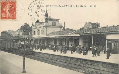 """CPA FRANCE 95 """"Enghien Les Bains, La gare"""""""