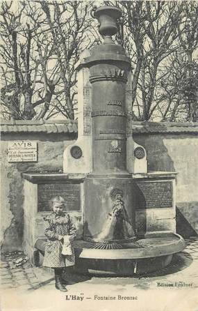 """CPA FRANCE 94 """" L'Hay, Fontaine Bronzac"""""""