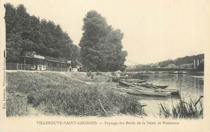 """CPA FRANCE 94 """" Villeneuve St Georges, Paysage des bords de la Seine et panorama"""""""