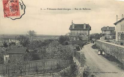 """CPA FRANCE 94 """" Villeneuve St Georges, Rue de Bellevue'"""