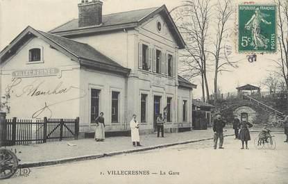 """CPA FRANCE 94 """"Villecresnes, La gare"""""""