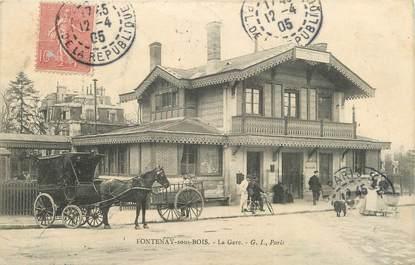 """CPA FRANCE 94 """"Fontenay sous Bois, La gare"""""""