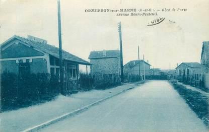 """CPA FRANCE 94 """"Ormesson sur Marne, Avenue Henri Peuteuil"""""""