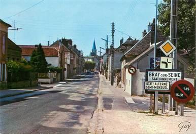 """CPSM FRANCE 77 """"Bray sur Seine, entrée de Bray par la route de Nogent"""""""