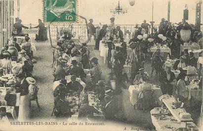"""CPA FRANCE 83 """" Sablettes les Bains, La salle du restaurant"""""""
