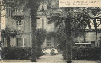 """CPA FRANCE 83 """" Tamaris sur Mer, Hôtel et Pension Régina"""""""