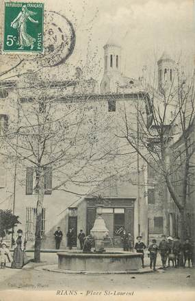 "CPA FRANCE 83 "" Rians, Place St Laurent"""