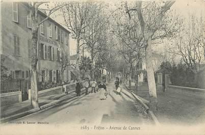 """CPA FRANCE 83 """"Fréjus, Avenue de Cannes"""""""