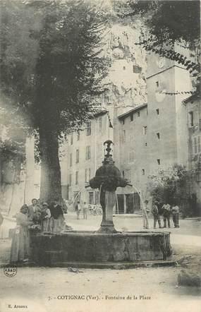 """CPA FRANCE 83 """"Cotignac, Fontaine de la place"""""""
