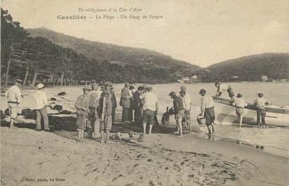 """CPA FRANCE 83 """"Cavalière, La plage, un coup de Bargin"""""""