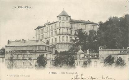 "CPA FRANCE 83 "" Hyères Hôtel Continental"""