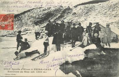 "CPA FRANCE 06 "" Peira Cava, Sports d'hiver"""