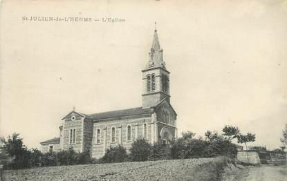 """CPA FRANCE 38 """" St Julien de l'Herms, L'église"""""""