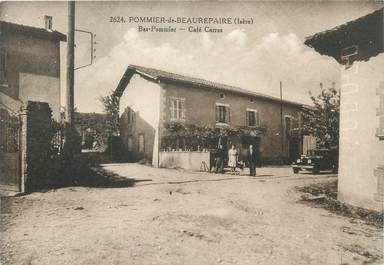 """CPA FRANCE 38 """" Pommier de Beaurepaire, Le Café Carras"""""""