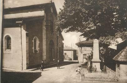 """CPA FRANCE 38 """" Pommier de Beaurepaire, La place de l'église"""""""