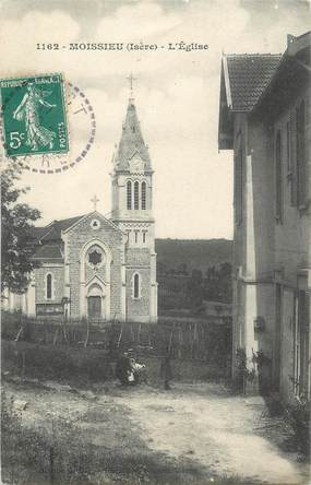 "CPA FRANCE 38 "" Moissieu, L'église"""